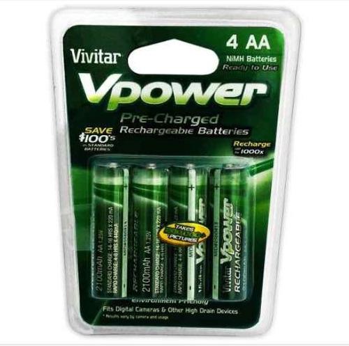 paquete baterias recargables aa vivitar