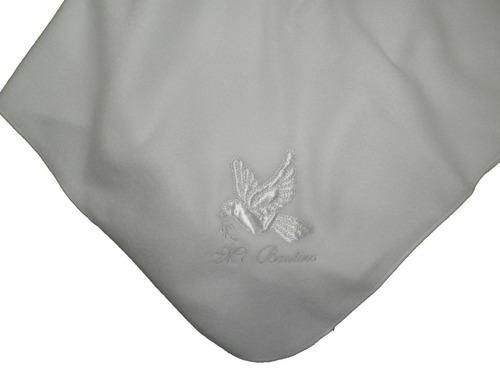 paquete bautismo ropon vestido tableado organza bautizo