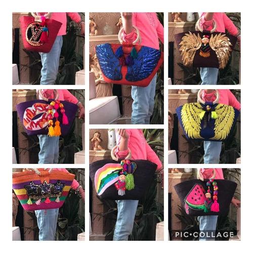 paquete bolsas artesanales 10 piezas