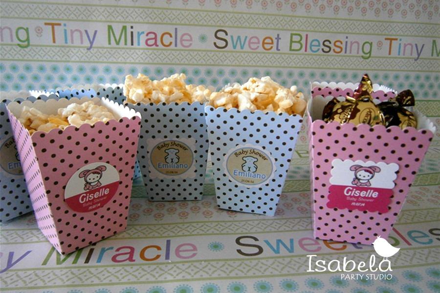 Paquete cajitas cajas para recuerdos mesa dulces baby - Como hacer centros de mesa con dulces para bautizo ...