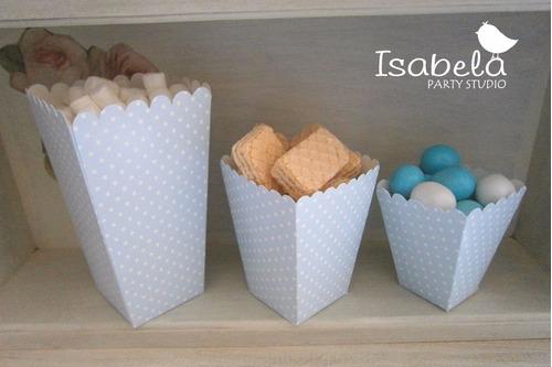 paquete cajitas palomitas para candy buffet o dulcero