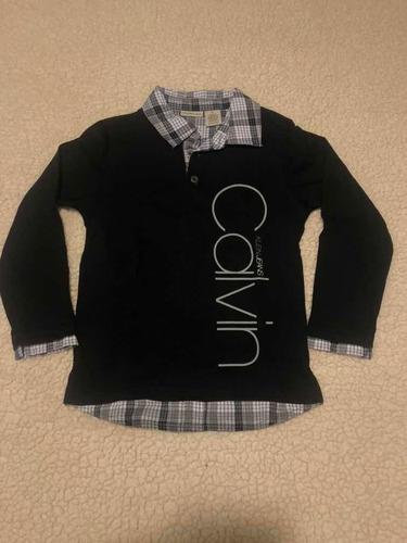 paquete camisas/sueters calvin klein niño t5