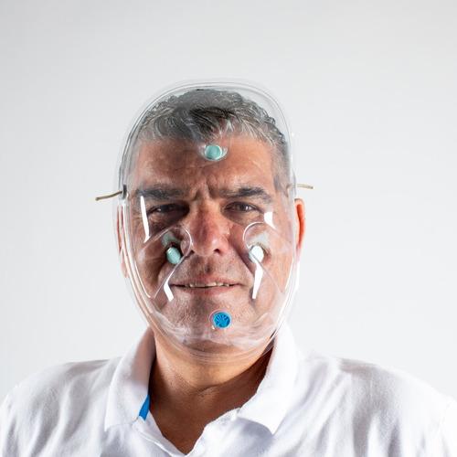 paquete careta de protección facial facetek 10 piezas