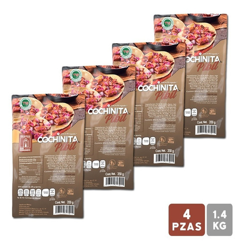 paquete cochinita pibil san edmundo 4 pzas