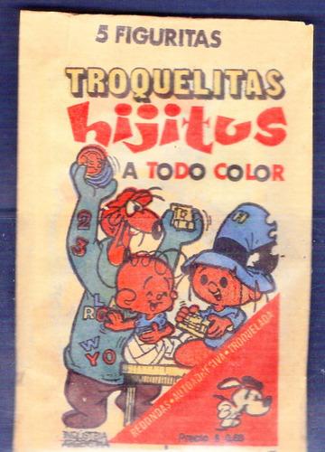 paquete completo de figuritas troquelitas hijitus año 1973