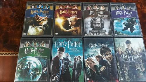 paquete completo de peliculas dvd harry potter