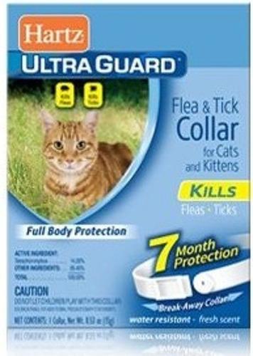 paquete con 12 collar antipulgas garrapatas hartz para gato