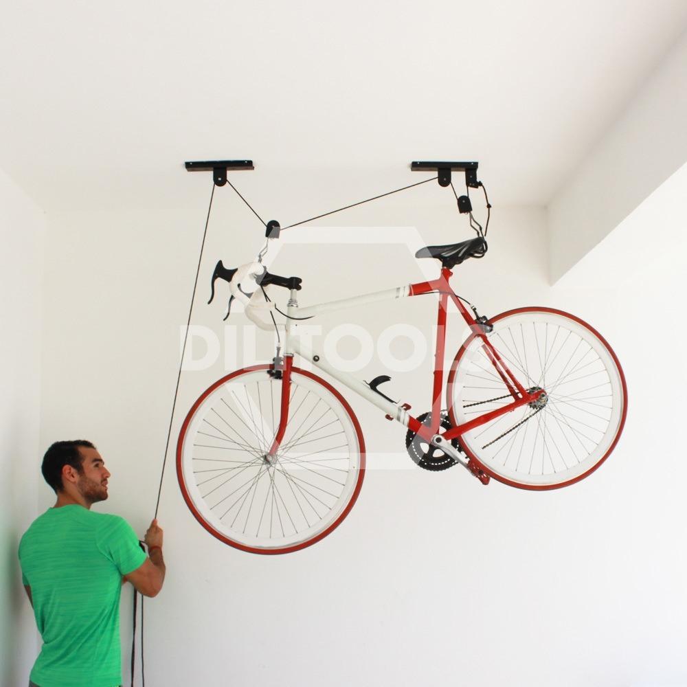 Paquete Con 2 Racks Para Colgar Bicicletas Y Mas Del Techo - Colgar-bici-techo