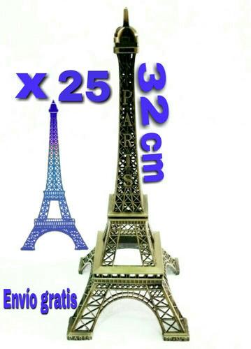 paquete con 25 torres eiffel de 32 cm - envio gratis