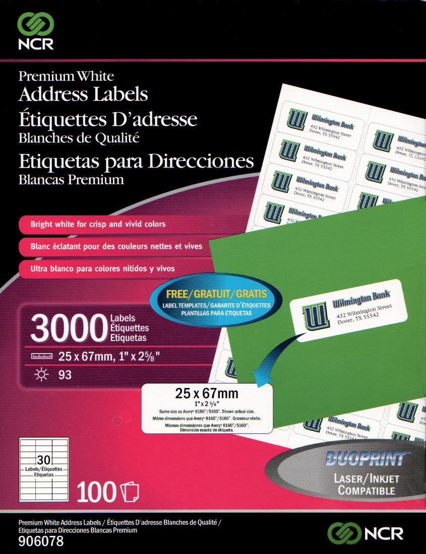Paquete Con 3000 Etiquetas Laser / Injeccion Ncr 906078 - $ 320.00 ...
