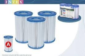paquete con 6 filtros cartucho tipo a intex y iii bestway