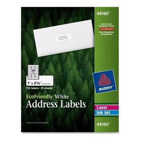 Paquete Con 750 Etiquetas Laser Injeccion Avery 48160 30xpag