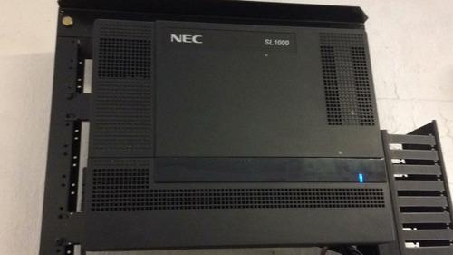 paquete conmutador nec sl 1000 central + rack