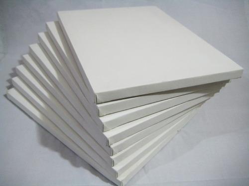 paquete de 10 bastidores 40x50 cm, pintura al oleo