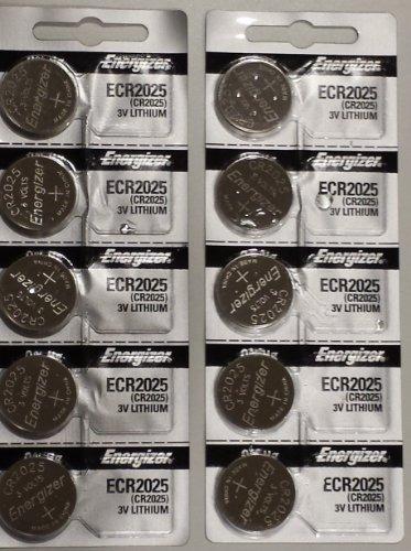 paquete de 10 baterías de litio energizer cr2025 3v (2 paqu