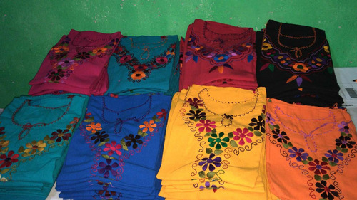 paquete de 10 blusas bordados a mano