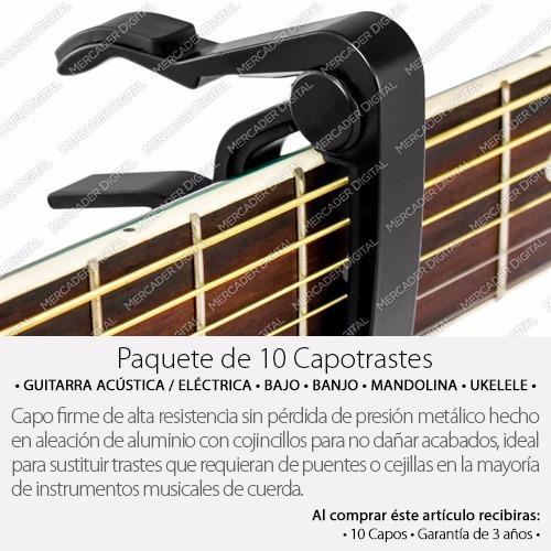 paquete de 10 capo traste para guitarra / ukulele / mayoreo