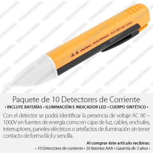 paquete de 10 detector de corriente voltaje probador mayoreo