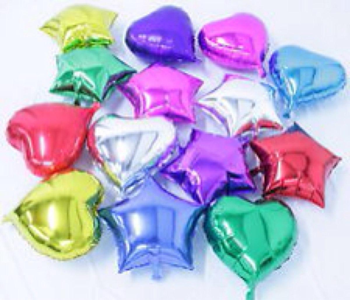 Paquete de 10 globos metalicos de estrella 50 cms mayoreo for Donde comprar globos