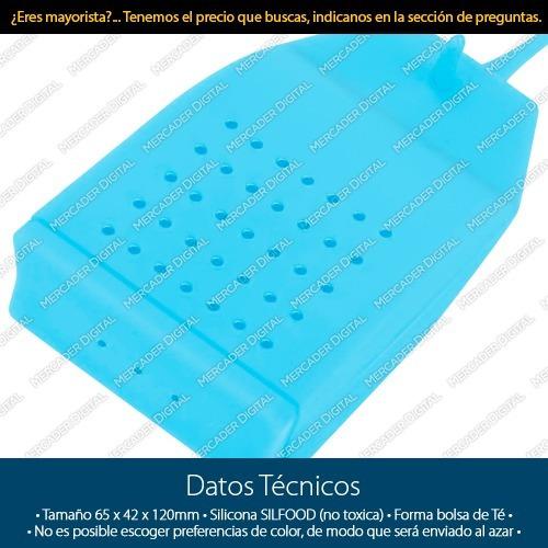 paquete de 10 infusor de silicón tipo bolsa té / mayoreo