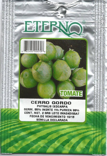 paquete de 10 sobres de semilla para siembra en casa