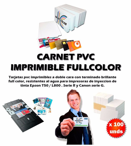 paquete de 10 tarjetas pvc impresora inkjet t50 r290 etc.