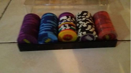 paquete de 100 fichas para pocker frengie juego de cartas