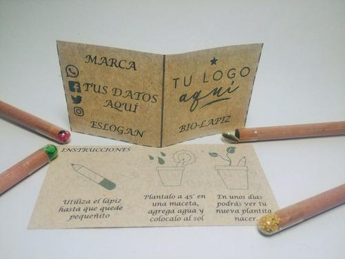 paquete de 100 lapices ecológicos con semilla + envío
