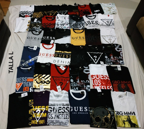 paquete de 100 playeras guess originales mayoreo!