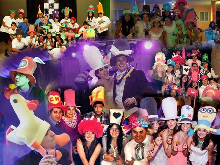 Paquete De 100 Pz De Sombreros De Hule Espuma Para Tu Fiesta ... 139974ae857