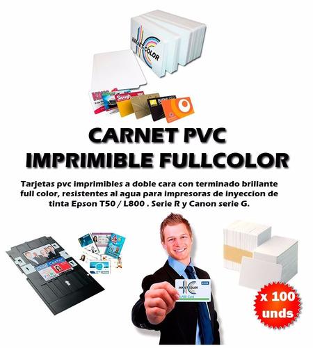 paquete de 100 tarjetas pvc impresora inkjet t50 r290 etc.