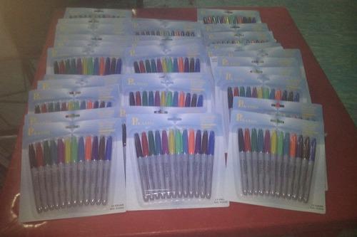 paquete de 12 plumones de colores