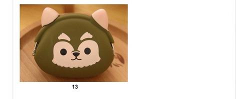paquete de 13 monedero de silicon figuras animales