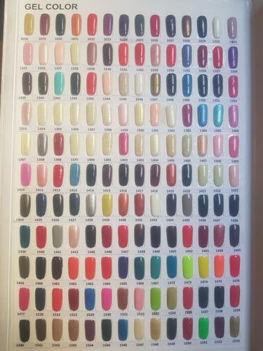 paquete de 15  esmaltes gelish 21 dias de color envio gratis