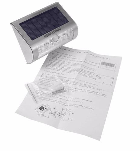 paquete de 2 lampara solar 9led 300lumen inalambrica