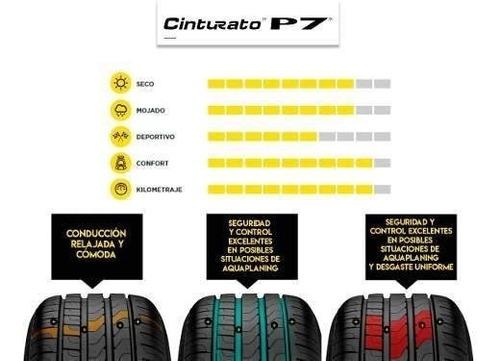 paquete de 2 llantas pirelli 225/45r17 91y p7 cinturato
