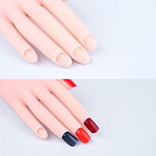 paquete de 2 manos de practica para uñas acrilicas mano fal