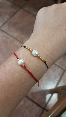 paquete de 2 pulseras perla con miyuki ajustables