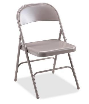 paquete de 2 sillas plegable metalica meco acero