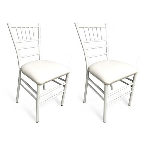paquete de 2 sillas tiffany tubular eventos lounge banquete