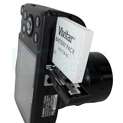 (paquete de 2) vivitar nb-6l / nb-6lh baterías para ciertas