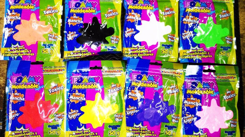 paquete de 21 piezas de foamy moldeable