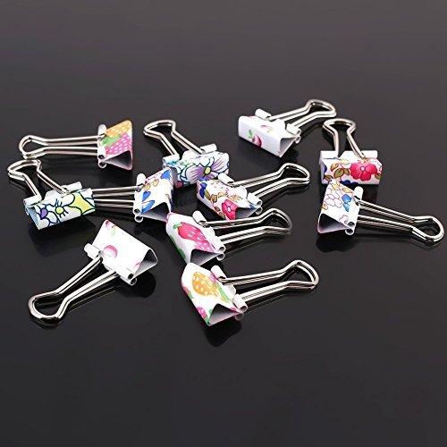 paquete de 24 clips de carpeta encantadores clips de papel d