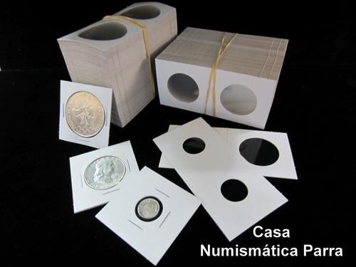 paquete de 25 micas para monedas encartonadas. marca b c w.