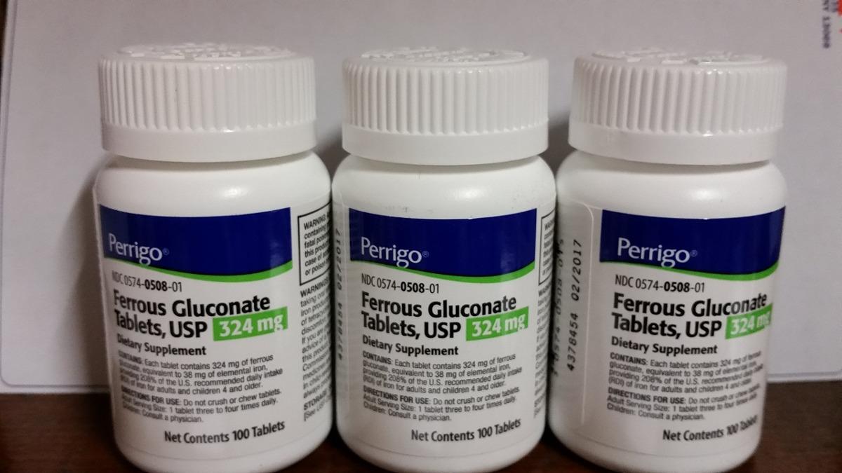 Resultado de imagen para gluconato ferroso