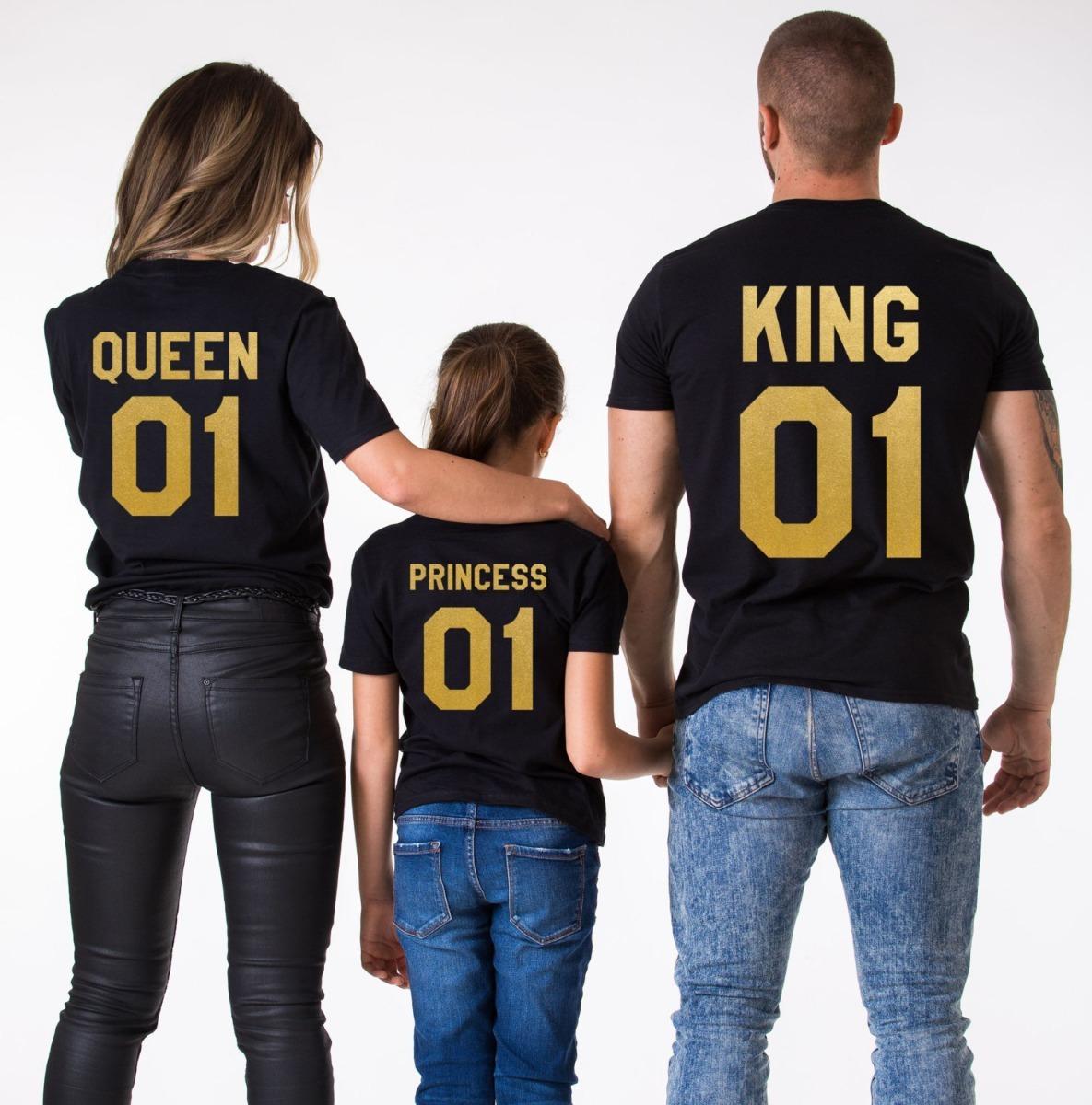 foto de Paquete De 3 Playeras King Queen Princess $ 549 00 en