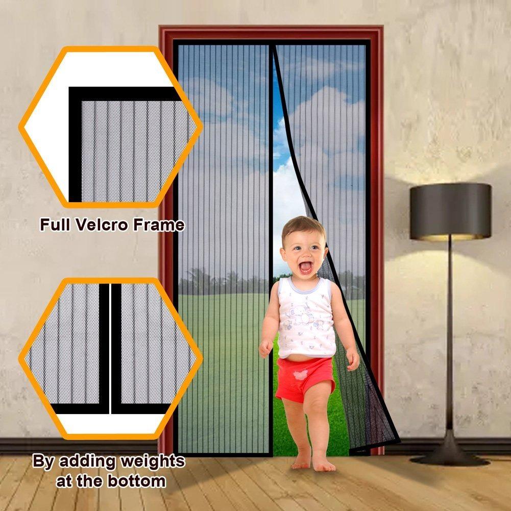 Paquete de 3 puerta de malla magn tica mosquitera se for Mosquitera magnetica puerta