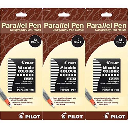 paquete de 3 relleno tinta pluma paralela