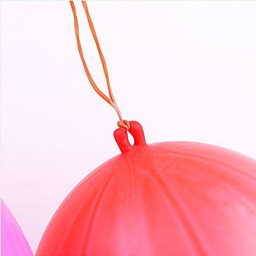paquete de 35 globos perforadores bolas de neon con asa de g