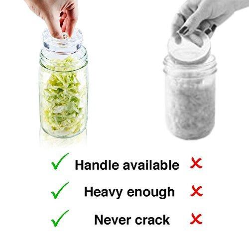 paquete de 4 pesas de vidrio de fermentacion con asa de agar